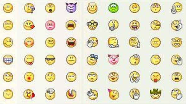 Emoticons galore!