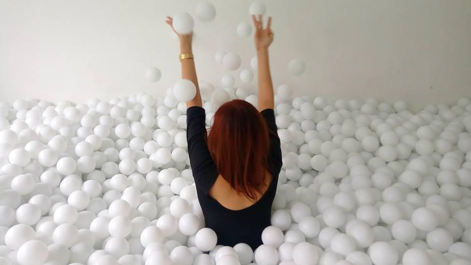 It's like a bubble bath... with balls.