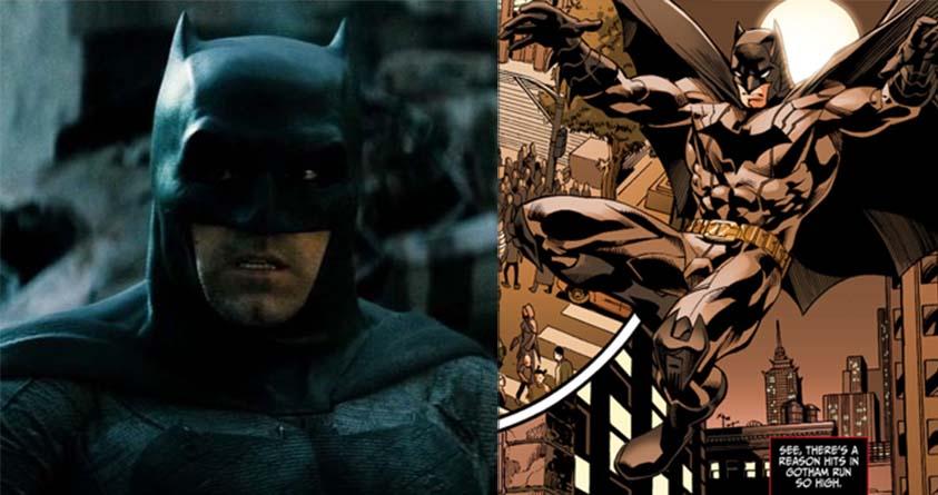 Left: Ben Affleck as Batman; Right: Suicide Squad (2011)