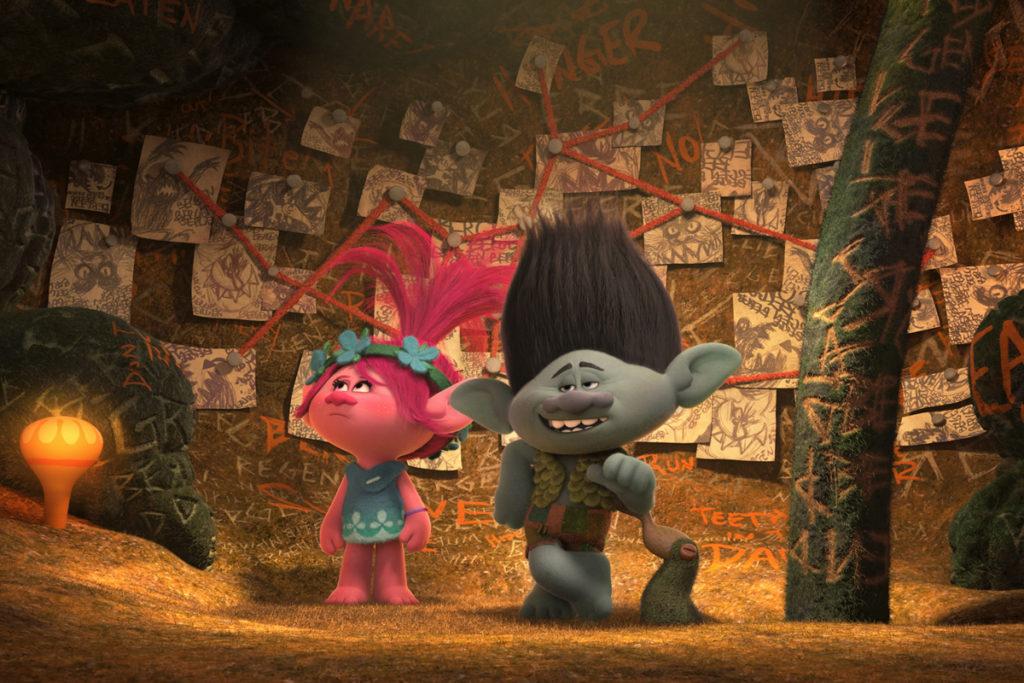 Poppy (Anna Kendrick) and Branch (Justin Timberlake) in 'Trolls' (DreamWorks/ 20th Century Fox)